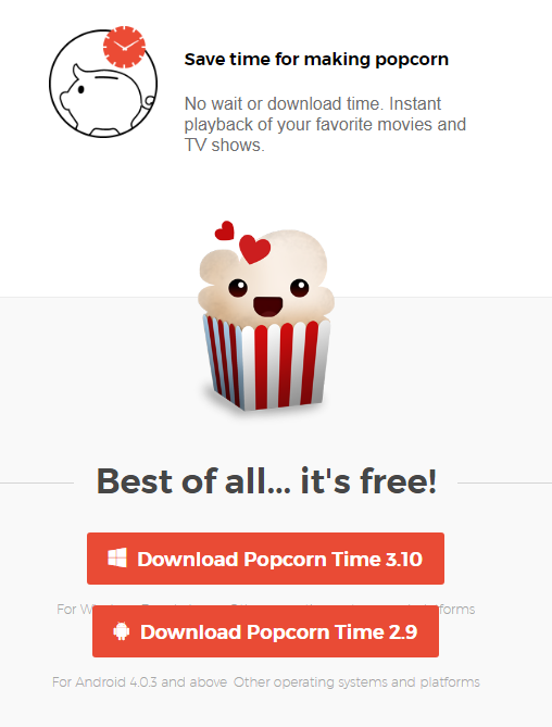 can you save movies from popcorn time